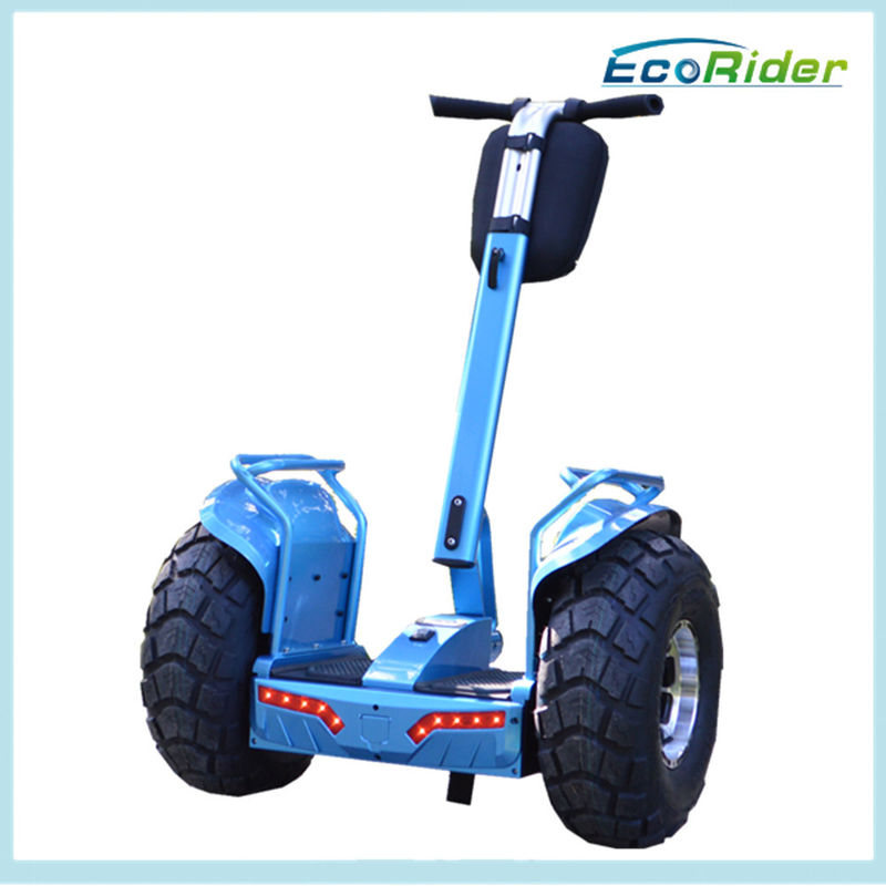 Blue Self Balancing Electric Scooter 4000W Off Road Esoii Model Back Light Alarm