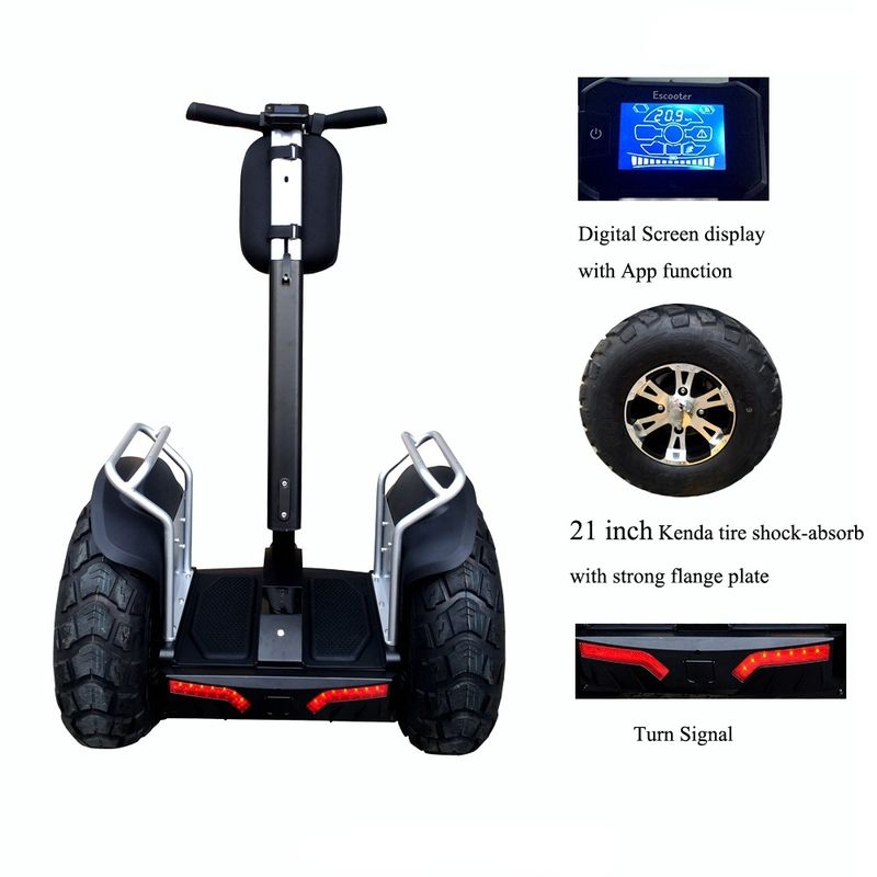 Fashionable 2 Wheel Electric Stand Up Scooter With 2pcs Samsung Battery