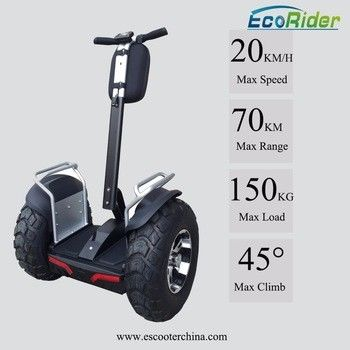 21 Inch Off Road Segway Electric Scooter Ecorider 4000W Brushless 2 Wheel Balance Scooter