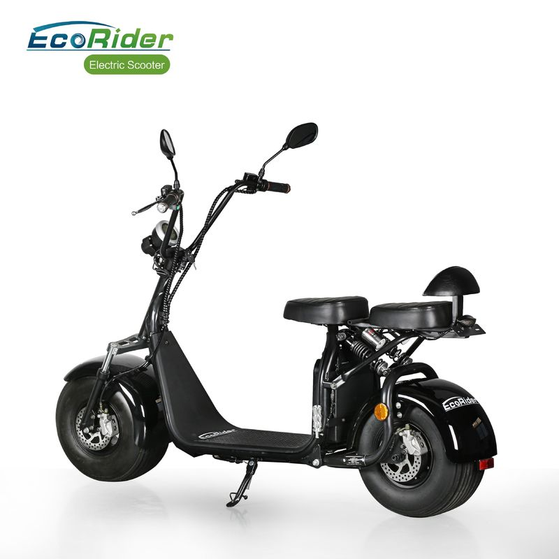 Adult E5 Street Legal Citycoco 2 Wheel Electric Scooter With Double Seat And Mirrors
