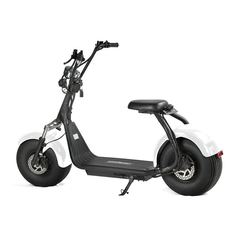 EcoRider 60V 12Ah chinese Lithium Battery Citycoco 2 Wheel Electric Scooter , 18 Inch Fat Tyre Electric Scooter