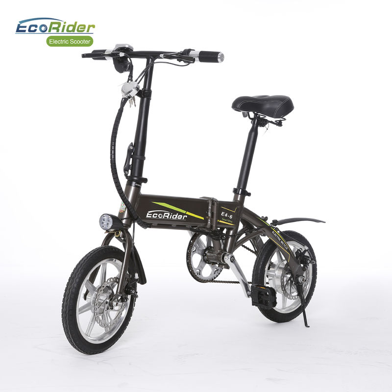14 Inch Mini Easy Fold 2 Wheel Electric Bike With Aluminum Alloy Removeable Lithium Battery