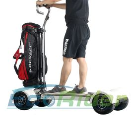 EcoRider Empat Roda Electric Golf Scooter Skateboard Cart dengan Handle Ajustable